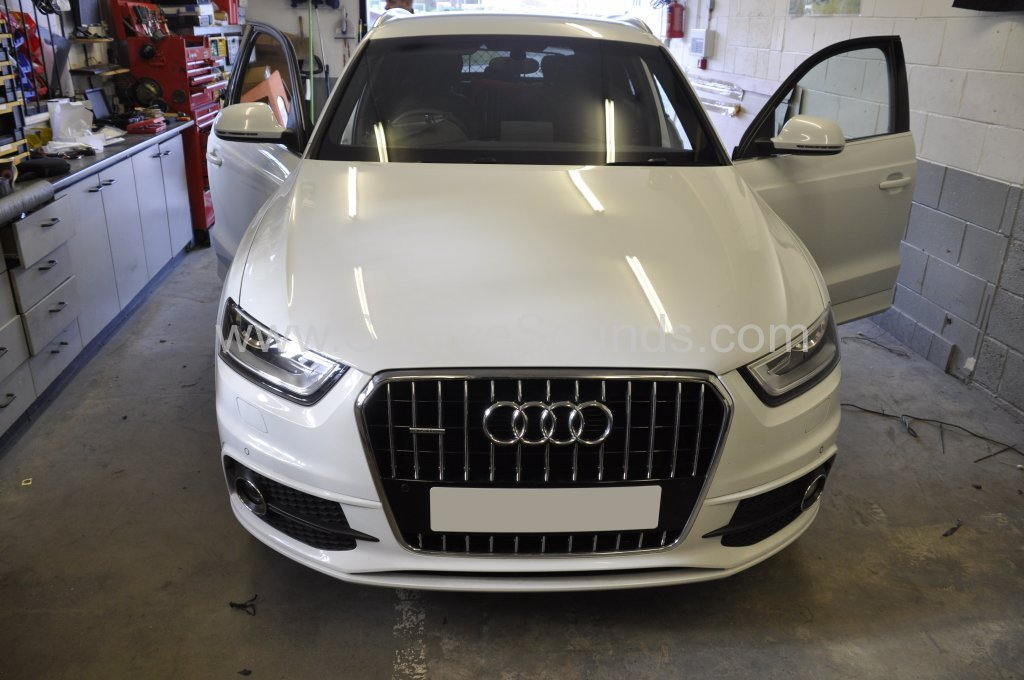 audi q3 2014 front parking sensor upgrade source sounds. Black Bedroom Furniture Sets. Home Design Ideas