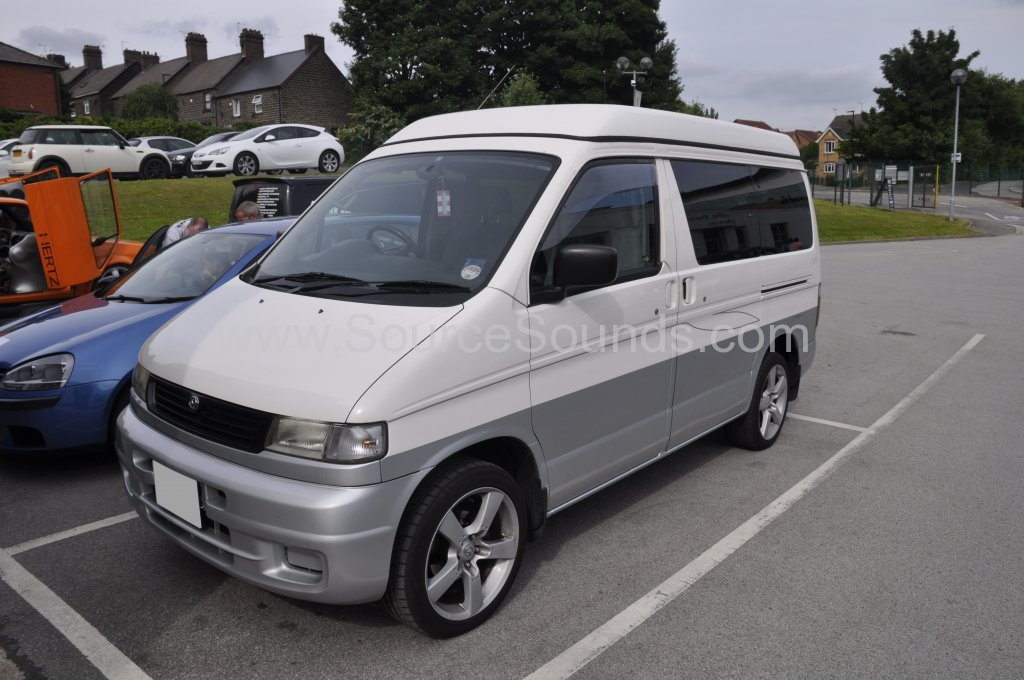 Mazda Bongo 1998 DVD roof screen upgrade 001