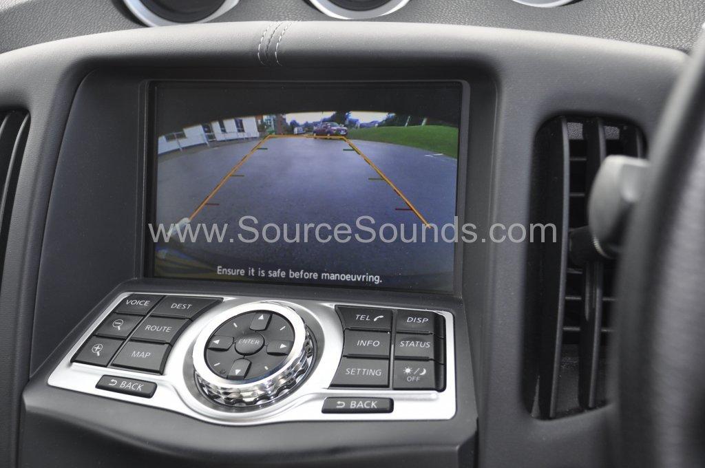 Nissan 370z 2009 reverse camera upgrade 007
