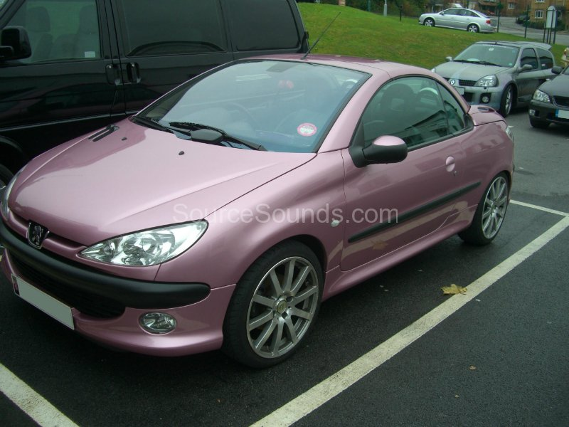Pug 206cc Pink on car audio system install