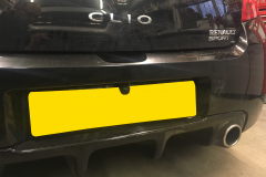 Renault Clio RS 2009 DAB screen reverse cam upgrade 006