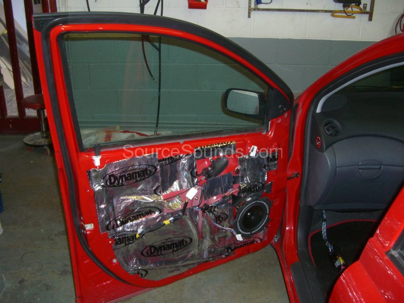 Fitting sound deadening into the front door of a Toyota Yaris