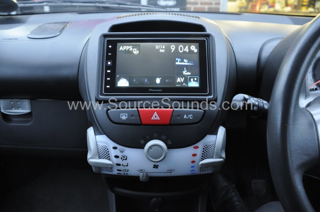 Toyota Aygo 2012 Pioneer Carplay System Upgrade Source
