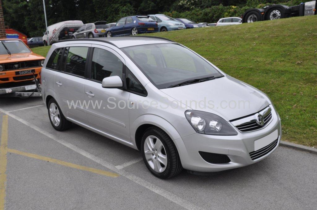 Vauxhall Zafira 2013 rear sensor upgrade 001