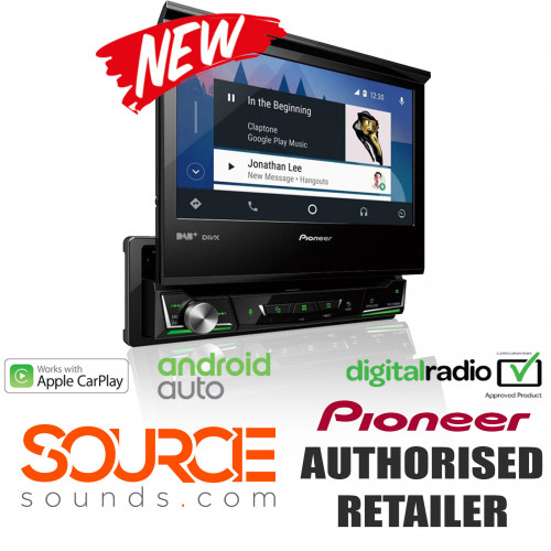 Pioneer AVH-Z7100DAB 7 Inch Motorised Screen Android Auto Apple Car Play DAB