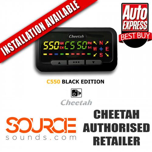 Cheetah C550 Black Edition Speed Camera Locator