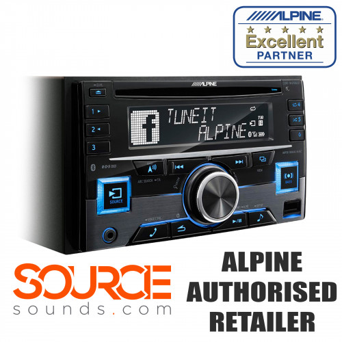 Alpine CDE-W296BT Double DIN Bluetooth USB Aux Stereo