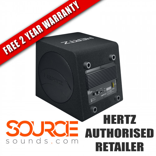 "Hertz Dieci DBA200 8"" Amplified Subwoofer Box 4 Ohm (Ω)"