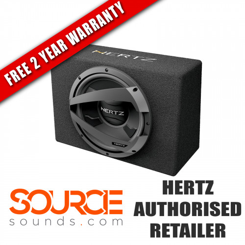 "Hertz Dieci DBX25 10"" Loaded Subwoofer Box 4 Ohm (Ω)"