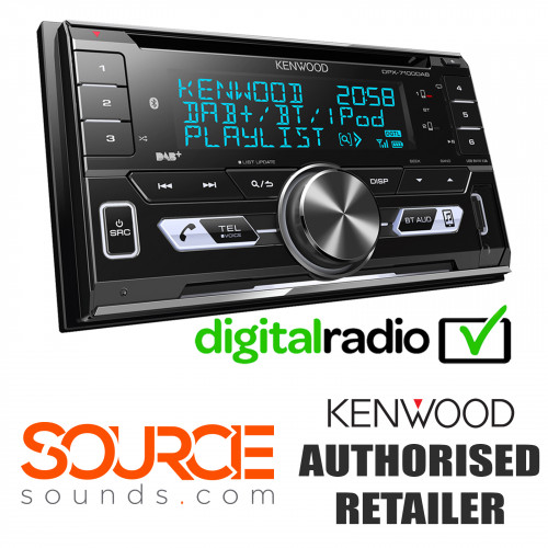 Kenwood DPX7100DAB Double Din DAB USB Bluetooth CD MP3 Stereo