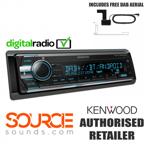 Kenwood KDC-x7200DAB USB AUX CD Bluetooth DAB Stereo