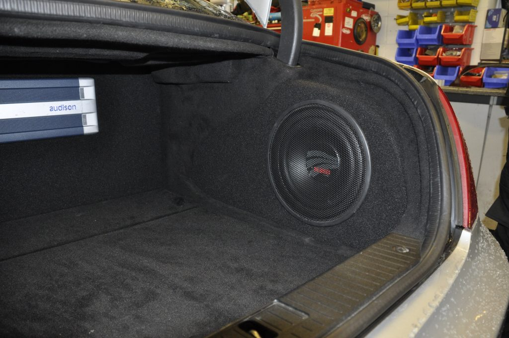 What is a subwoofer? custom built enclosure in a Mercedes