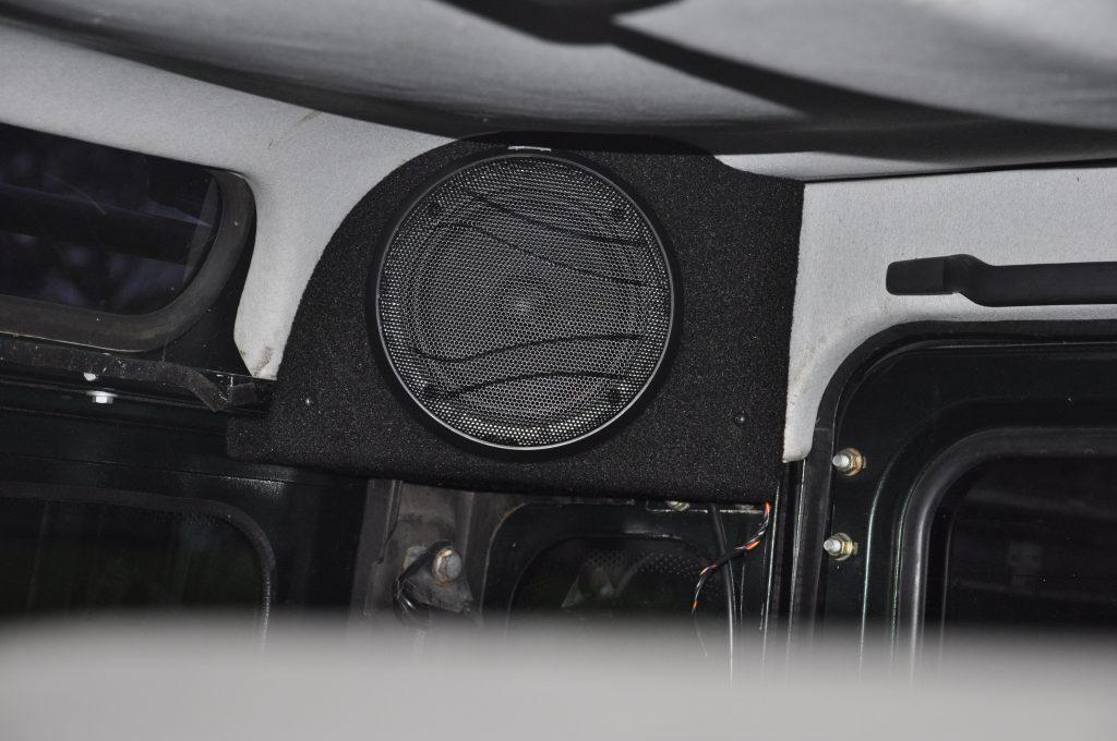Speaker upgrade in a Landrover Defender