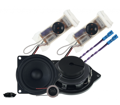 """are you unhappy with how your BMW sounds? Rainbow 4"""" component kit"""
