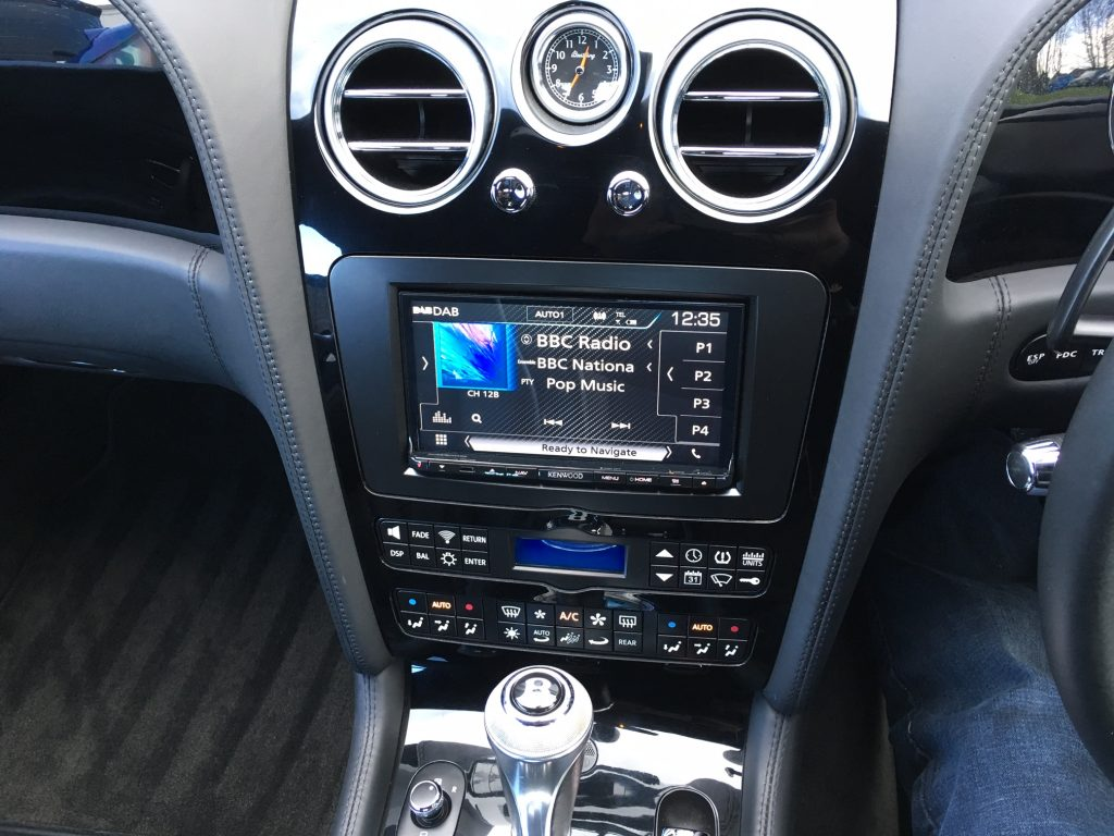 Kenwood DNX-8106DABS system fitted into a Bentley 2004-2011